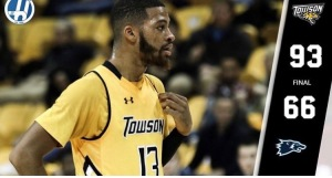 Picture courtesy of the Towson Mens Basketball Instagram